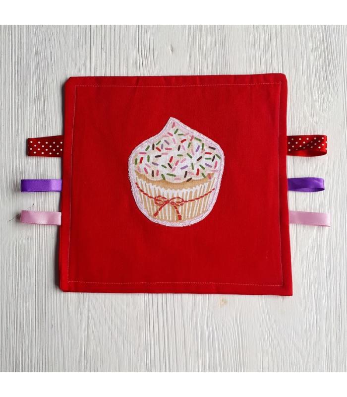 Tutteldoek Cupcake rood