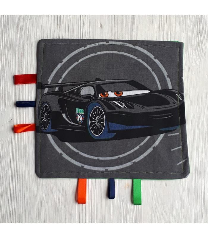 Tutteldoek Auto zwart met knisper