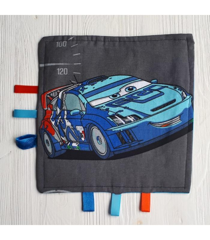 Tutteldoek Auto blauw met knisper