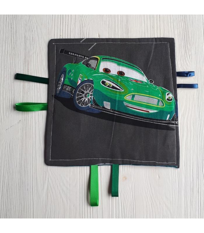 Tutteldoek Auto groen met knisper