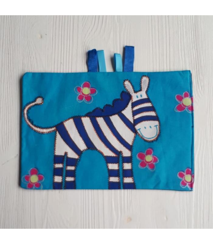 Tutteldoek Zebra blauw