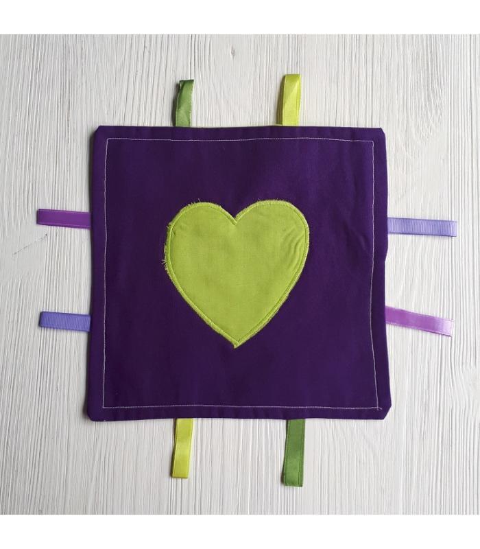 Tutteldoek Hart Groen paars