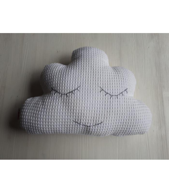 Wolkenkussen Wit wafel ogen dicht