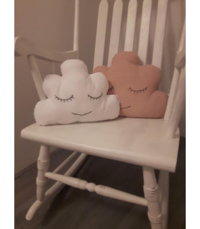 Wolkenkussen set roze/wit